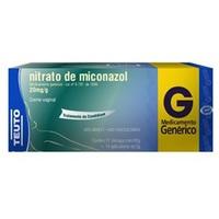 Nitrato de Miconazol Creme Ginecológico Teuto 20mg/g, caixa com 1 bisnaga com 80g de creme de uso ginecológico + 14 aplicadores