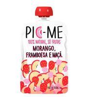 Purê de Frutas Pic-Me morango, framboesa e maçã, 100g