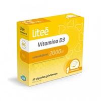 Vitamina D3 Liteé 2000 UI, caixa com 30 cápsulas