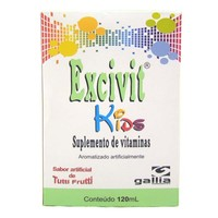 Excivit Kids Frasco com 120mL de solução de uso oral, tutti frutti
