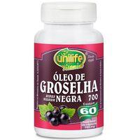 Óleo de Groselha Negra Unilife 700mg, frasco com 60 cápsulas