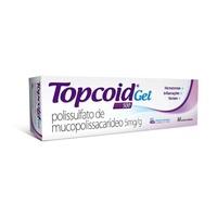Topcoid 5mg/g, caixa com 1 bisnaga com 40g de gel de uso dermatológico