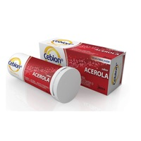 1g, caixa com 10 comprimidos efervescentes, sabor acerola