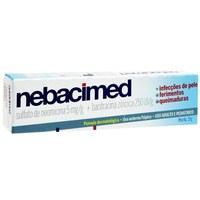 Nebacimed 5mg/g + 250UI/g, caixa com 1 bisnaga com 15g de pomada de uso dermatológico