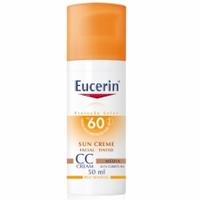 Protetor Solar Facial Eucerin Sun Creme Tinted FPS 60, média