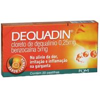 0,25mg + 5mg, caixa com 20 pastilhas, sabor laranja
