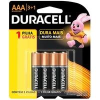 Pilha Alcalina Duracell AAA básica, 4 unidades