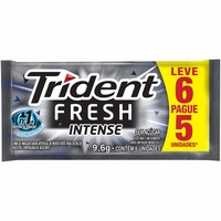 Chiclete Trident Fresh intense, 9,6g, leve 6 pague 5