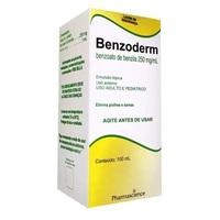 Benzoderm 0,25g/mL, caixa com 1 frasco com 100mL de emulsão de uso dermatológico