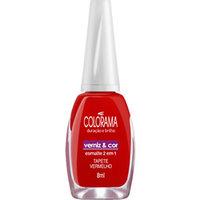 Esmalte Colorama Verniz & Cor tapete vermelho