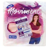 Roupa Íntima Descartável Bigfral Moviment Feminina P/M, 8 Unidades