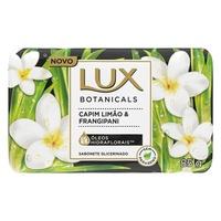 Sabonete Glicerinado Lux Botanicals capim-limão e frangipani, barra com 1 unidade de 125g