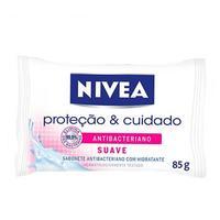 Sabonete Nivea Proteção & Cuidado Antibacteriano suave, barra, 85g