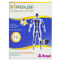 Targus Lat 40mg, caixa com 2 sachês com 5 adesivos transdérmicos + 1 bandeja