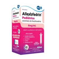 Allexofedrin 6mg/mL, caixa com 1 frasco com 60mL de suspensão de uso oral sabor framboesa + seringa dosadora, pediátrico