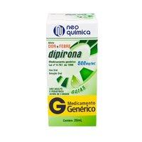 Dipirona Gotas Neo Química 500mg/mL, caixa com 1 frasco com 20mL de solução de uso oral