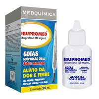Ibupromed Gotas 100mg/mL, caixa com 1 frasco gotejador com 20mL de suspensão de uso oral