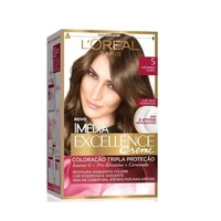 Tintura L'Oréal Imédia Excellence Creme nº 5 castanho claro