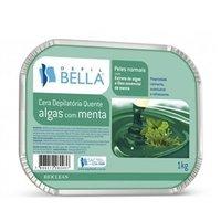 Cera Depilatória Corporal Depil Bella algas com menta, barra, 1Kg