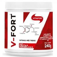 Pré-treino Vitafor V-Fort frutas vermelha com 240g