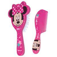 Minnie, escova + pente, rosa