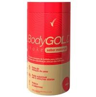 Shake Eleve Body Gold morango, frasco com 400g