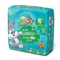 Fralda Baby Looney Tunes G, pacote com 18 unidades