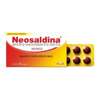 Neosaldina 30mg + 300mg + 30mg, caixa com 30 drágeas