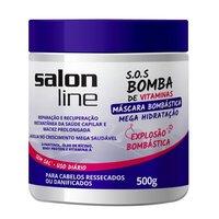 Máscara de Tratamento S.O.S Bomba de Vitaminas Mega Hidratação Salon Line 500g