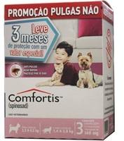 140mg, cães 2,3Kg a 4,5Kg, gatos 1,9Kg a 2,7Kg, caixa com 3 comprimidos mastigável