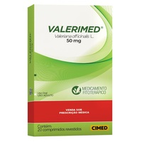 Valerimed 50mg, caixa com 20 comprimidos revestidos