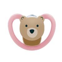Chupeta Nuk Space 0 a 6 meses, urso, rosa
