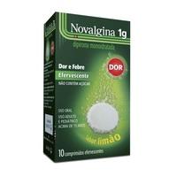 Novalgina 1g, caixa com 10 comprimidos efervescentes