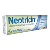 Neotricin 5mg/g + 250UI/g, caixa com 1 bisnaga com 15g de pomada de uso dermatológico