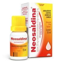 Neosaldina 50mg + 300mg + 30mg, caixa com 1 frasco gotejador com 15mL de solução de uso oral
