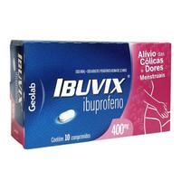 Ibuvix 400mg, caixa com 10 comprimidos