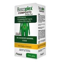 Buscoplex Composto 6,67mg/mL + 333,4mg/mL, caixa com 1 frasco gotejador com 20mL de solução de uso oral