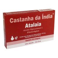 Castanha da Índia Atalaia 100mg, caixa com 30 drágeas
