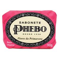 Sabonete Phebo Tradicional flores da primavera, barra, 1 unidade com 90g