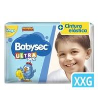 Fralda Babysec Ultra Sec Galinha Pintadinha XXG, pacote com 30 unidades