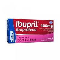Ibupril Comprimido 400mg, caixa com 10 comprimidos revestidos