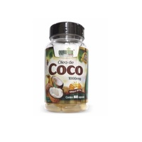 Óleo de Coco Ourifito 1000mg, frasco com 60 cápsulas