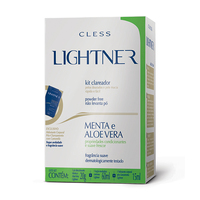 Kit Descolorante Lightner Pó menta e aloe Vera