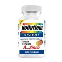 A ao Zinco Select 50+ Hollyfield 500mg, frasco com 60 cápsulas