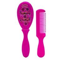 escova + pente, zoo, rosa