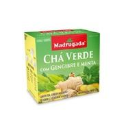 Chá Madrugada verde com gengibre e menta, 6 caixas de 10 sachês cada