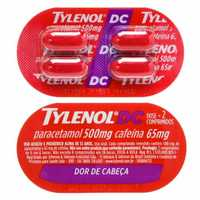 Tylenol DC 500mg + 65mg, blíster com 4 comprimidos