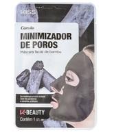 Máscara Facial de Bambu Kiss NY carvão, 1 unidade