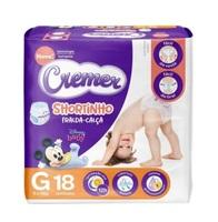 Fralda Cremer Disney Baby Shortinho G, pacote com 18 unidades