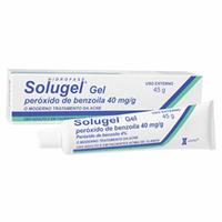 Solugel 40mg/g, caixa com 1 bisnaga com 45g de gel de uso dermatológico